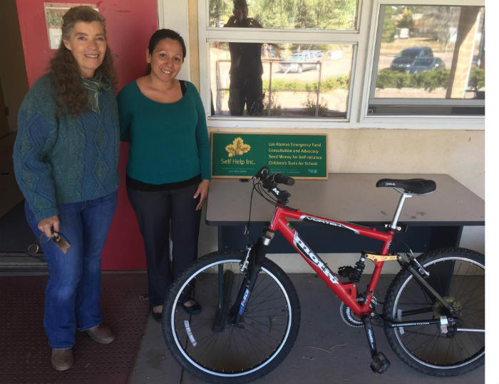 Self Help Inc. Los Alamos :: Tylerr Jones and Firefighter Charities for the amazing gift of a bike for someone in need of alternative transportation